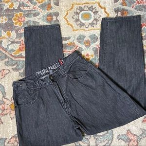 Ecko 72 Unlimited Loose Dark Gray Men Jeans 34x32
